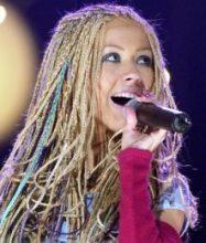 Celebrity Christina Aguilera Hair Color