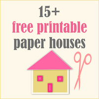 Free printable paper houses: