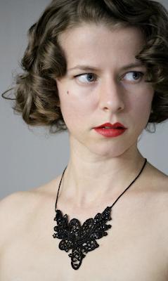 Dark & Beautiful Antique Lace Necklace #antique #black #victorian #lace #jewelry