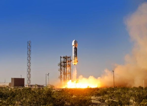 η επιτηχημένη εκτόξευση του διαστημοπλοίου του Μπέζο,ς του επικεφαλή της Amazon