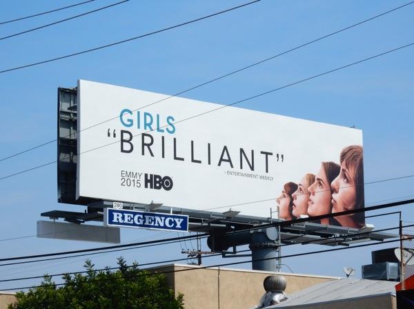 Girls Brilliant season 4 Emmy 2015 billboard