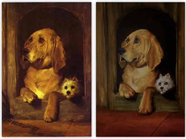 Dignity & Impudence, Sir Edwin Landseer, a bloodhound