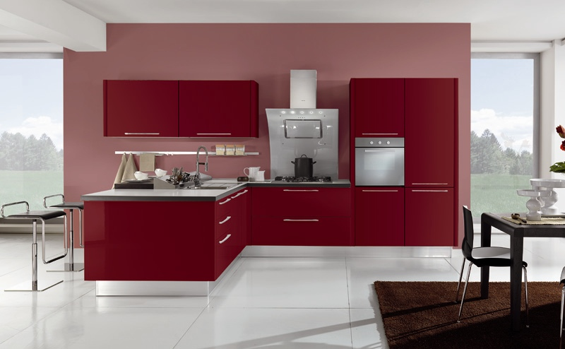 italian contemporary red kitchen design in san diego italian red