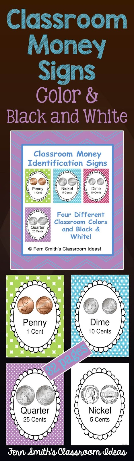 Fern Smith's Classroom Ideas Classroom Money Signs and Books at TeachersPayTeachers
