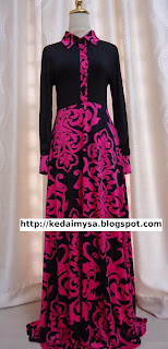 maxi-dress-murah-pink-hitam