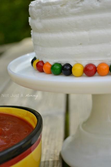 1 cake 3 ways Cinco De Mayo cake Sixlet candy trim