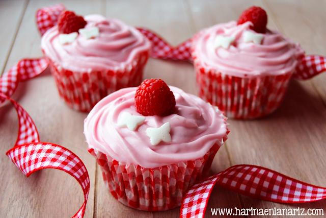 cupcakes de frambuesas