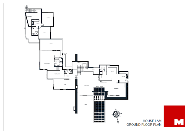 Ground floor plan of the Lam House
