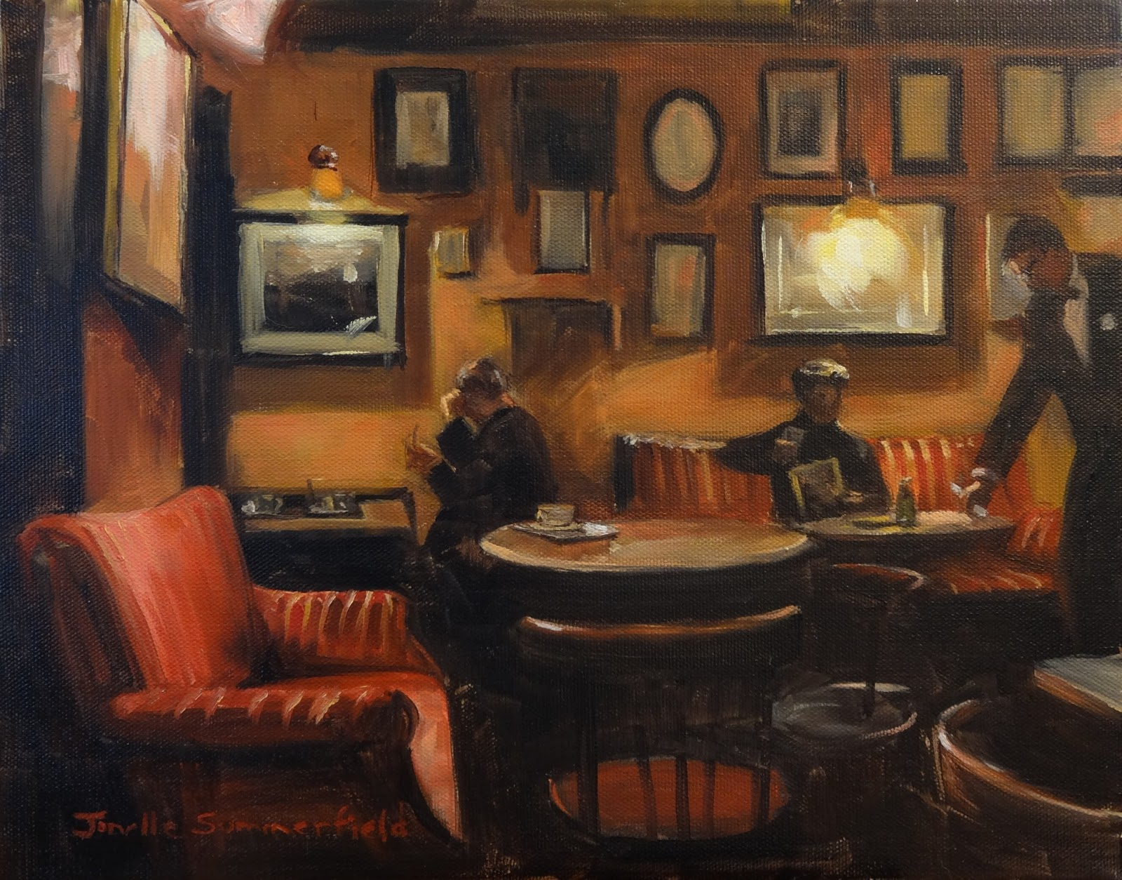 Famous cafe painting - Displaying 15 Images For Coffee Shop Painting