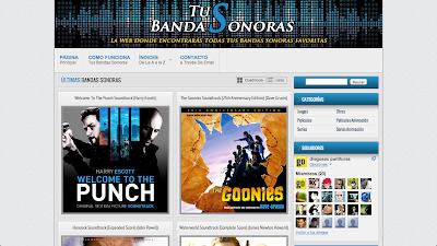 Tus Bandas Sonoras. Página donde podrás encontrar y descargar todas tus bandas sonoras favoritas de Películas, Series, Juegos, etc.
