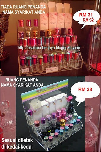 Plastic Stand Bottle Perfume RM31