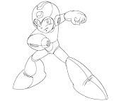 #19 Mega Man Coloring Page