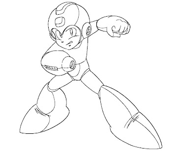 #19 Mega Man Coloring Page