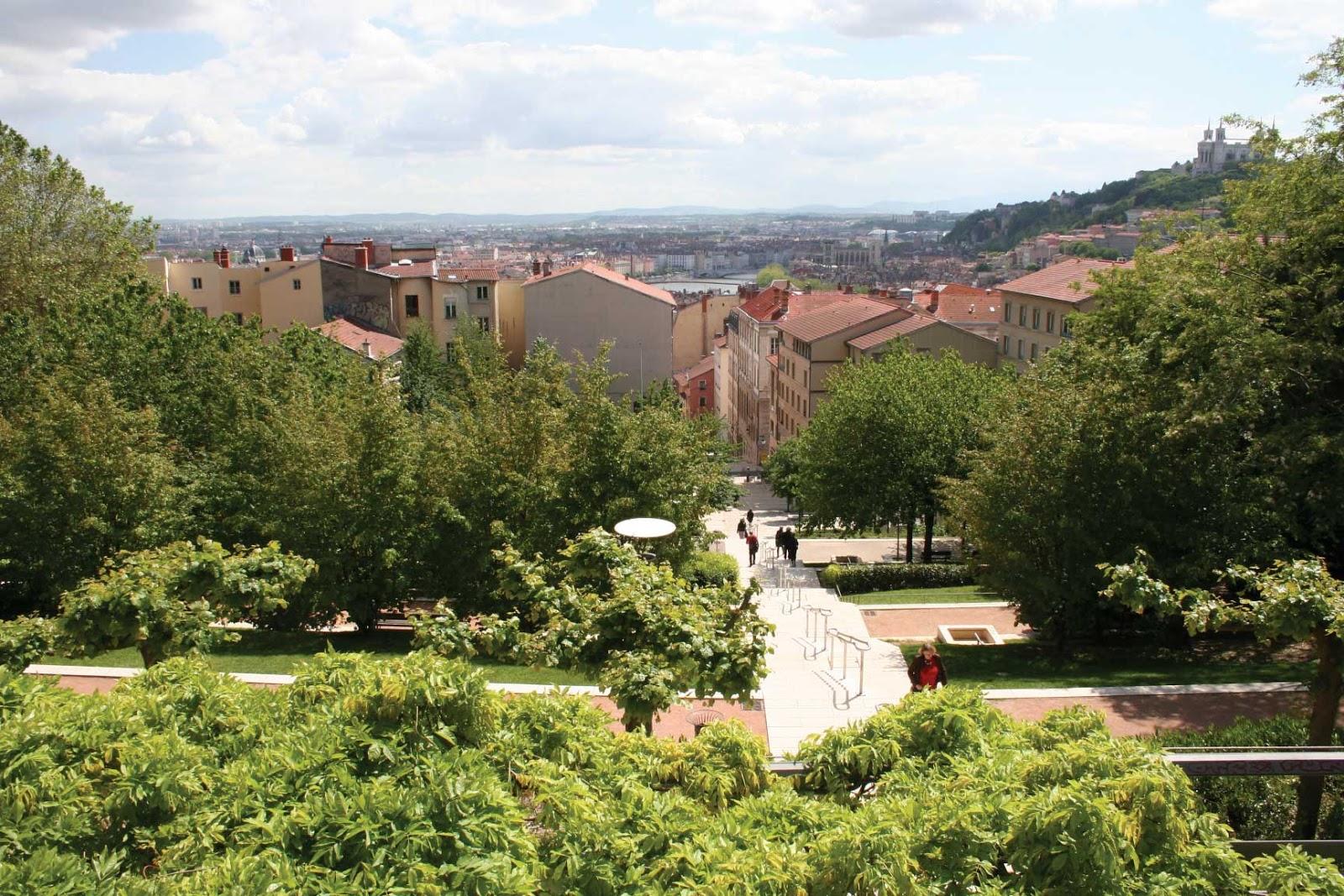 Esplanade de la Grande-Côte vue panoramique - visite guidée de Lyon - Nicolas Bruno Jacquet