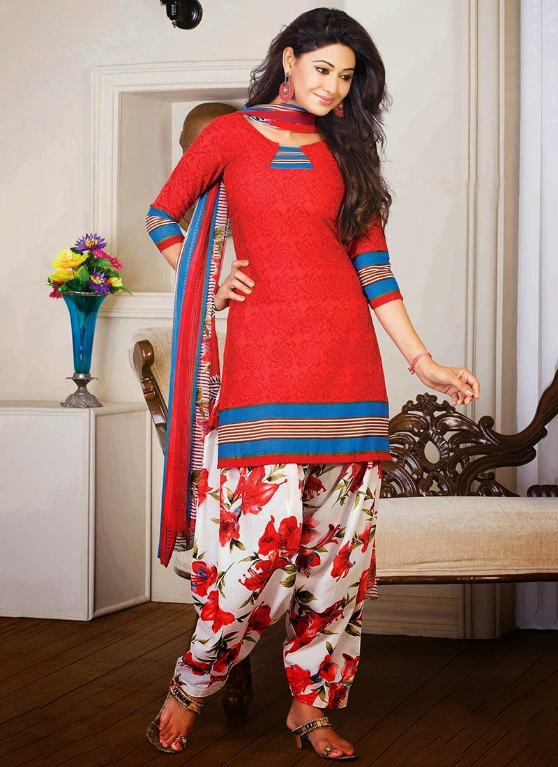 http://www.cbazaar.com/salwar-kameez/casual-salwars/bedazzling-printed-cotton-semi-patiala-suit-p-sldny1201a.html