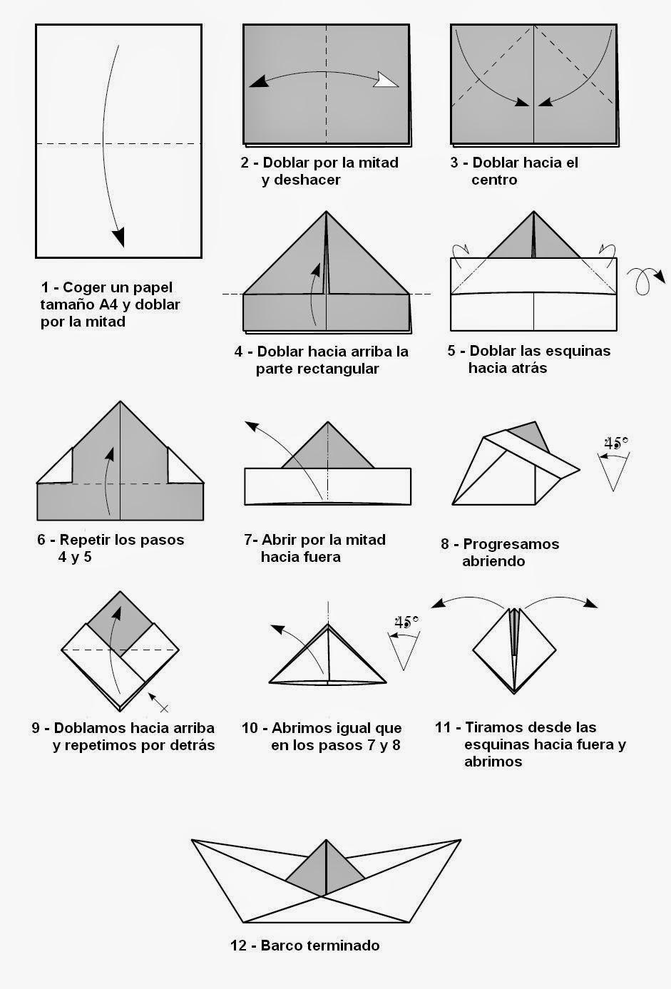 C mo hacer un barco en origami papiroflex a para ni os - Como hacer una barbacoa paso a paso ...