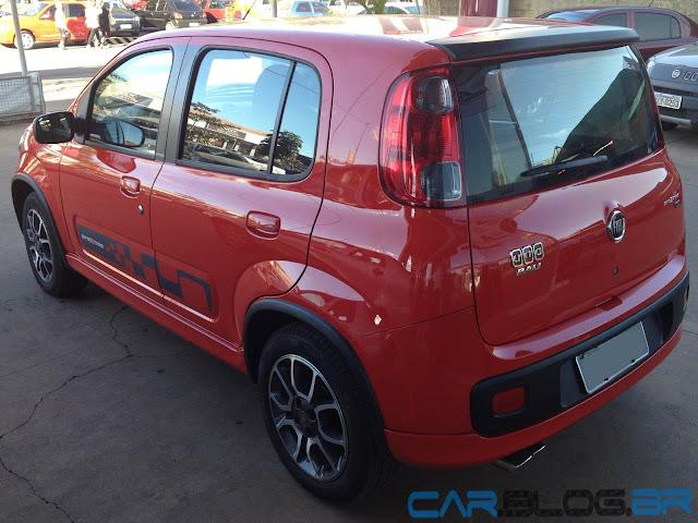 Fiat Uno Sporting 2013 - interior - por dentro