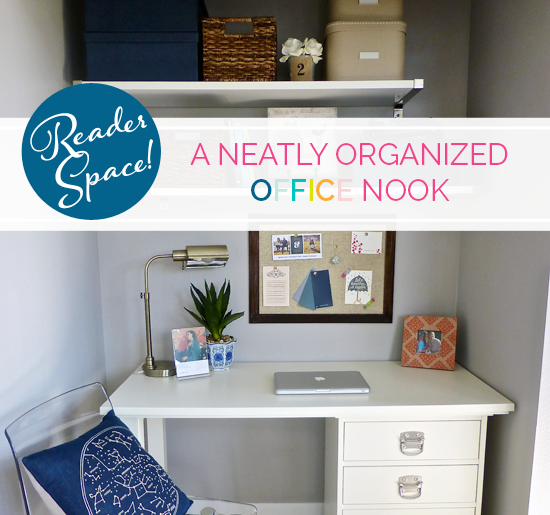 iheart organizing: reader space: a neatly organized office nook