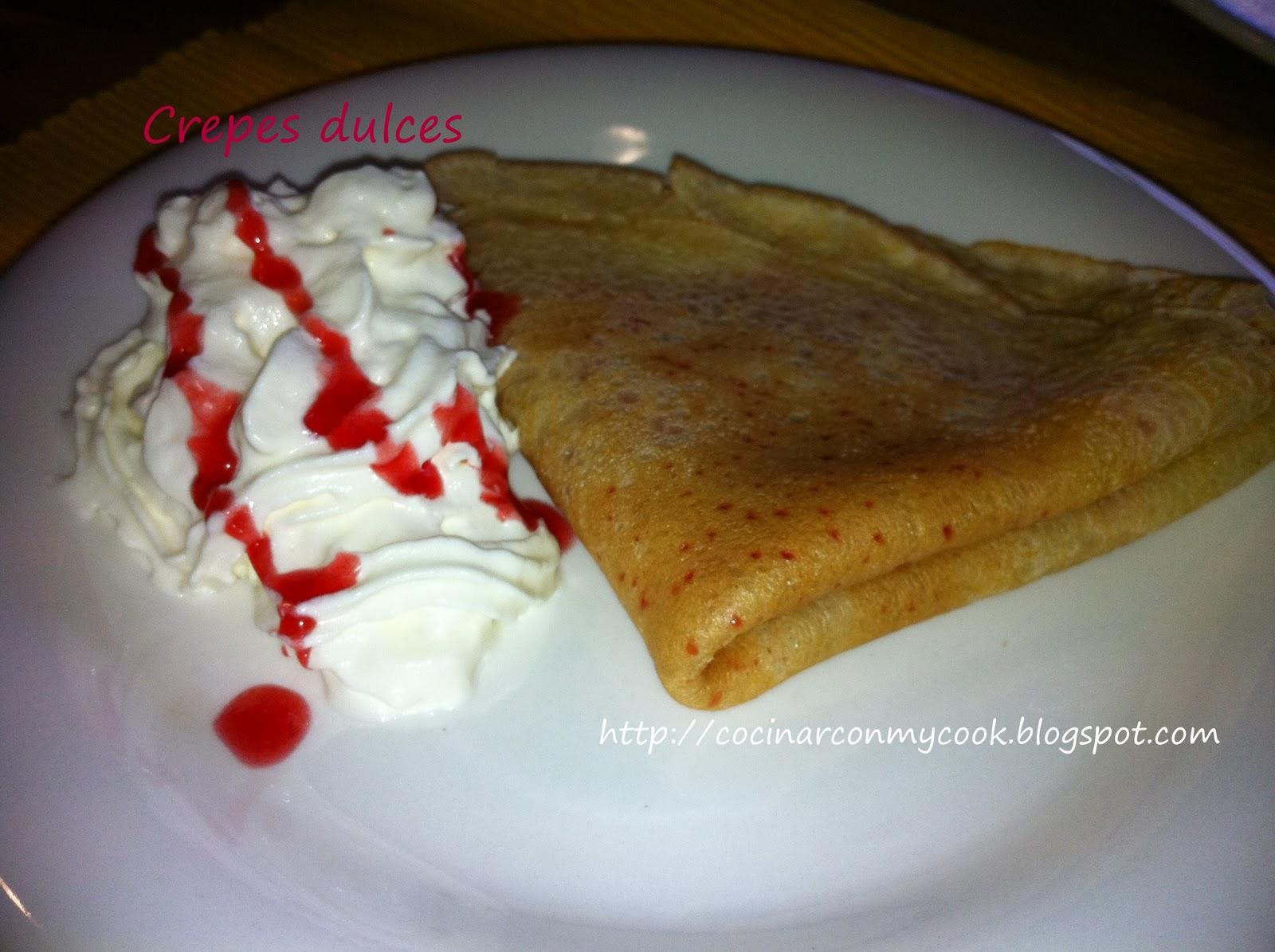 Cocinar con mycook crepes dulces for Como cocinar crepes