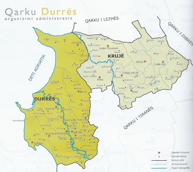 Qarku i Durrësit - Qytetet e Durrësi dhe Krujë