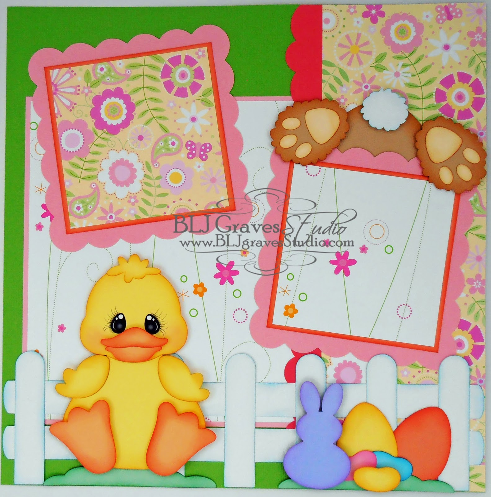 Scrapbook ideas easter - Some Bunny Loves Easter Scrapbook Pages