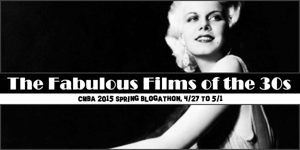 Don't be depressed - a 1930s blogathon is coming your way!