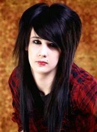 Foto Model  Rambut Emo Panjang