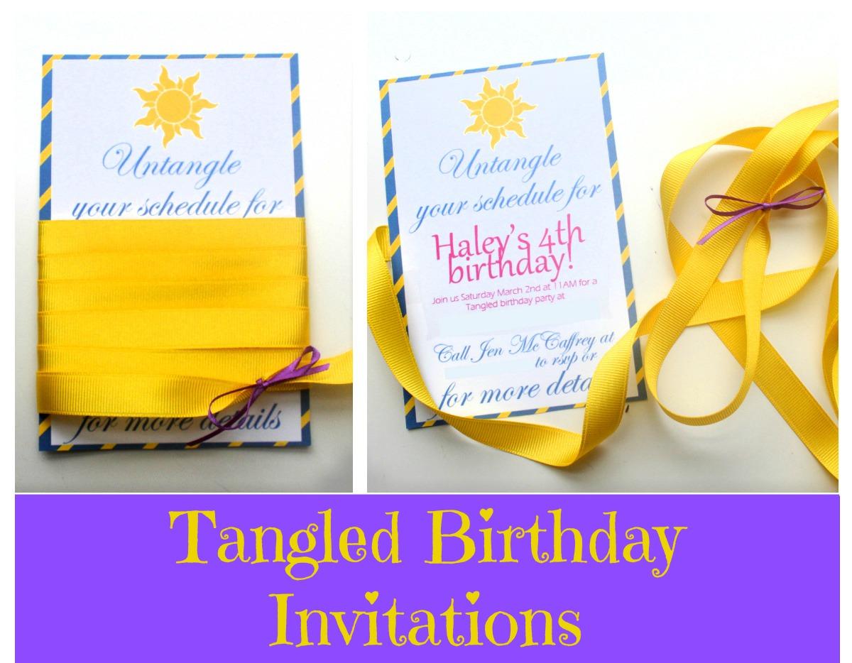 EATSLEEPMAKE PARTY Tangled Birthday Invites Tangled Birthday Party