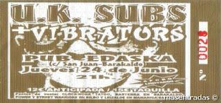 entrada de concierto de u.k. subs