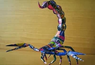 Origami Dari Kaleng Bekas