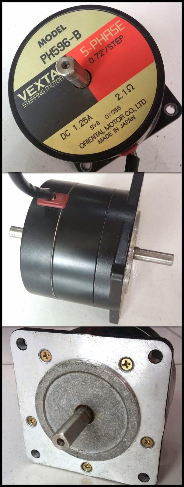 2nd machine stepping motor ph596 b 5 phase vexta for 5 phase stepper motor