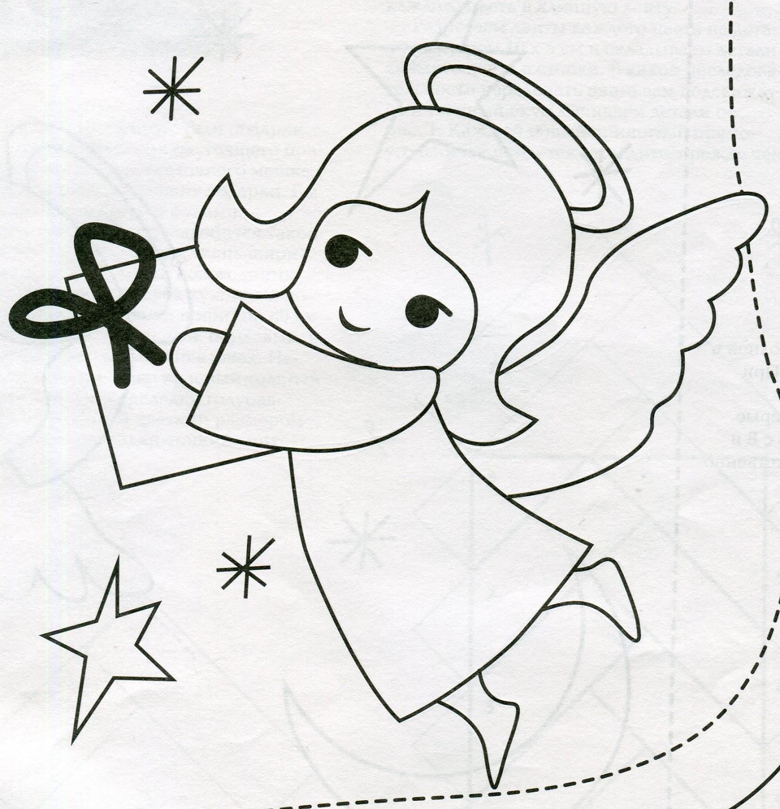 Ангелочек из фетра своими руками с выкройками 19