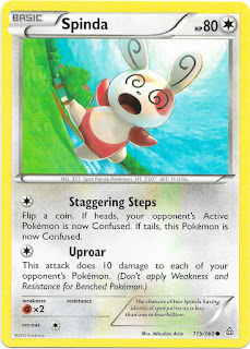 Spinda Primal Clash Pokemon Card