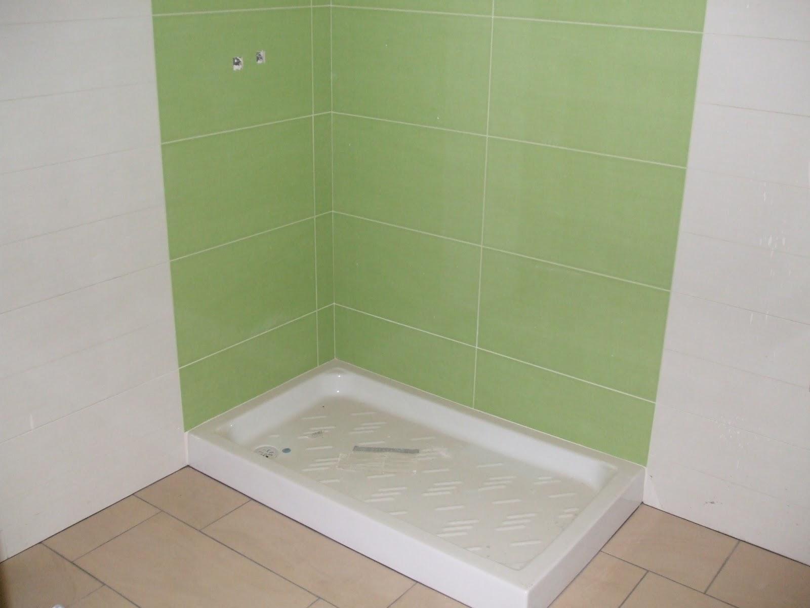 Baño Verde Con Blanco:AZULEJOS, ALICATADOS Y ALICATADORES: ALICATADO EN VIVIENDA PARTICULAR