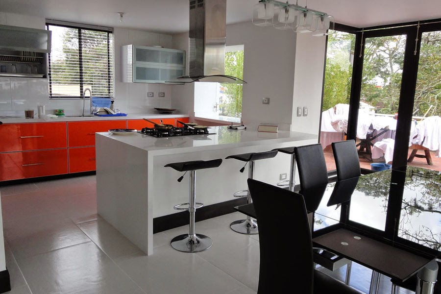 Cocinas integrales en pereira para inspirar tu coraz n - Cocina blanca y naranja ...