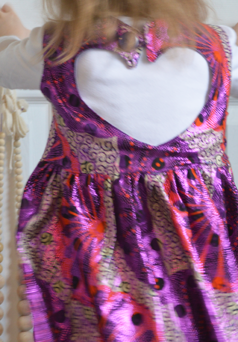 Metallic Sweetheart Dress sewn by Cicely Ingleside