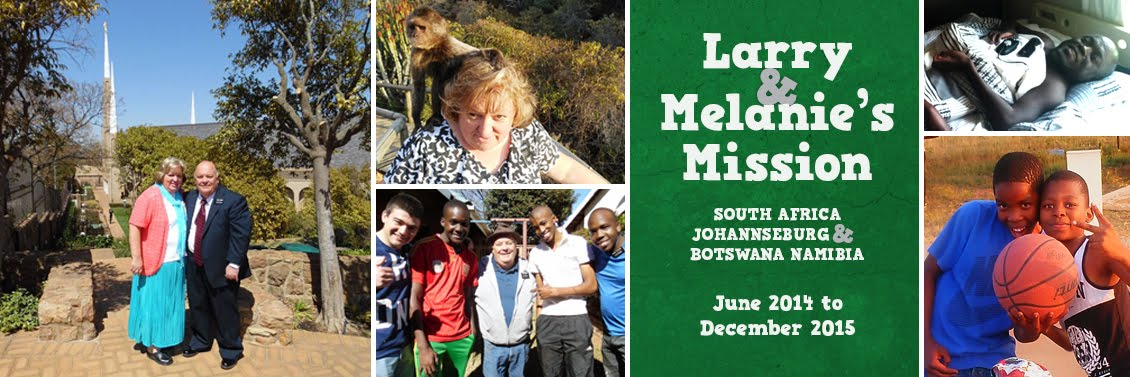 Larry and Melanie's Mission to South Africa/Botswana/Namibia