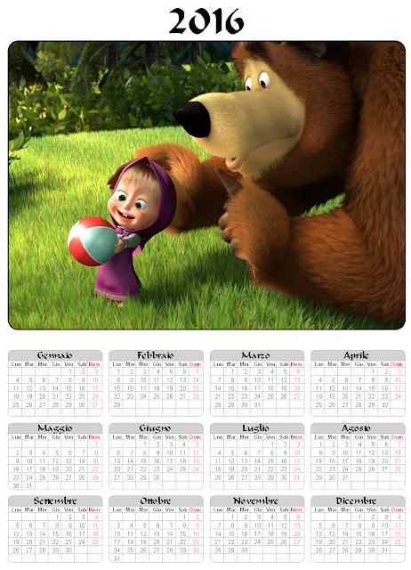 Calendario 2016 - Masha e Orso