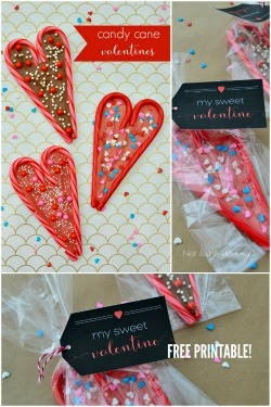 Candy Cane Valentines + free printables