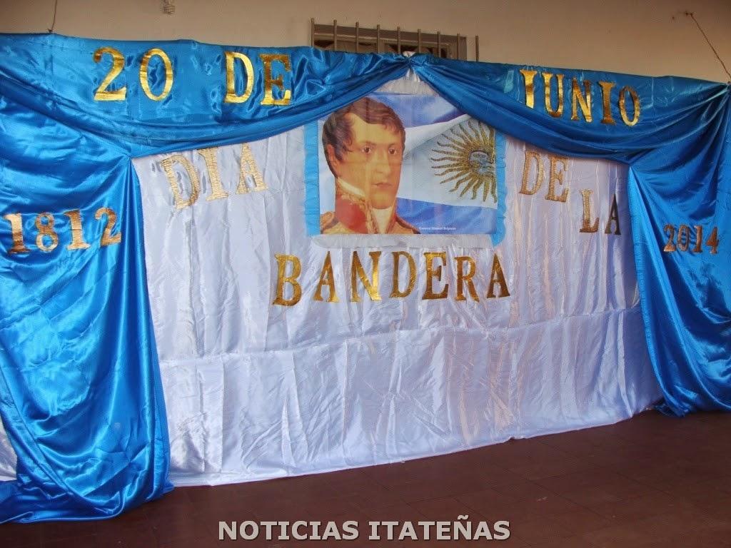 Noticias itate as homenaje a la bandera y su creador for Decoracion 9 de julio primaria