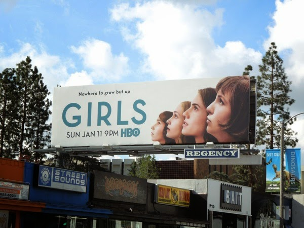 Girls season 4 HBO billboard