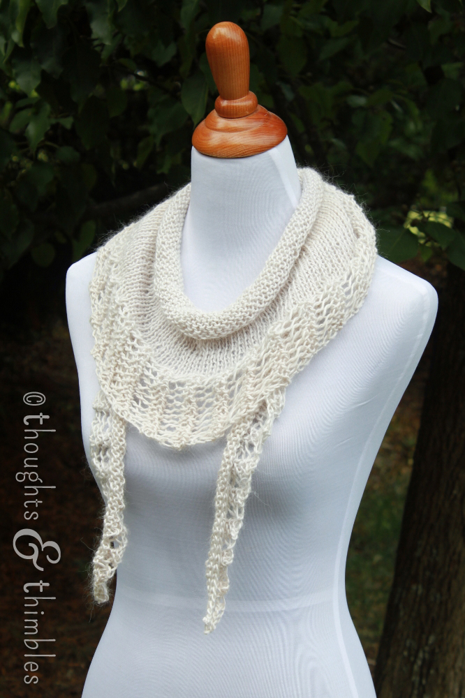 Knitting Pattern For Gallatin Scarf : Thoughts and Thimbles: The Gallatin Scarf