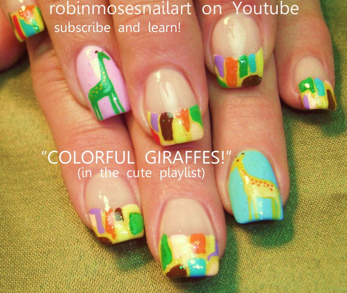 summer fun nails, umbrella nails, bikini nails, palm tree nail ...