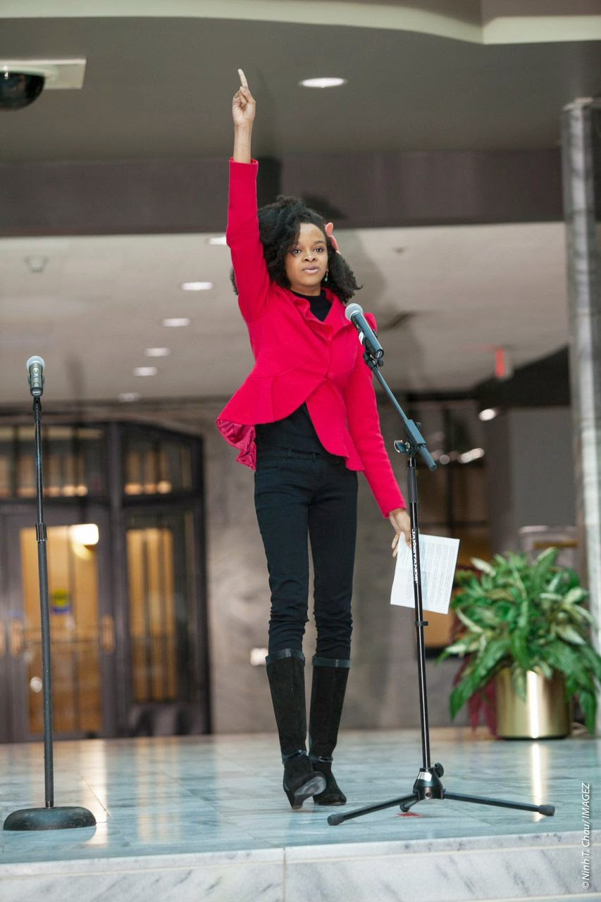Me speaking at One Billion Rising!