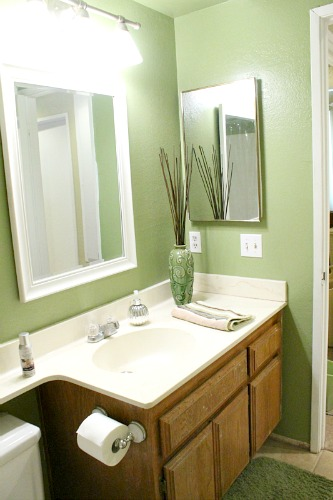 Painting Bathroom Cabinet clever nest: diy: repainting bathroom cabinets- quick and easy!