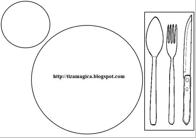 La tiza m gica material para aprender a poner la mesa for Poner la mesa correctamente