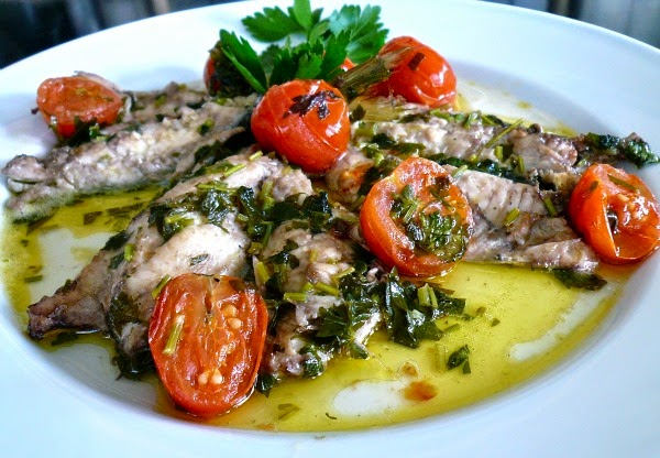 "Sea bream ""acqua pazza"" in mad water, Mediterranean Diet, Napoli recipe,"