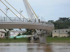 Pinguela sobre o rio Acre