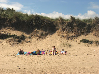 Family at Warkworth beach