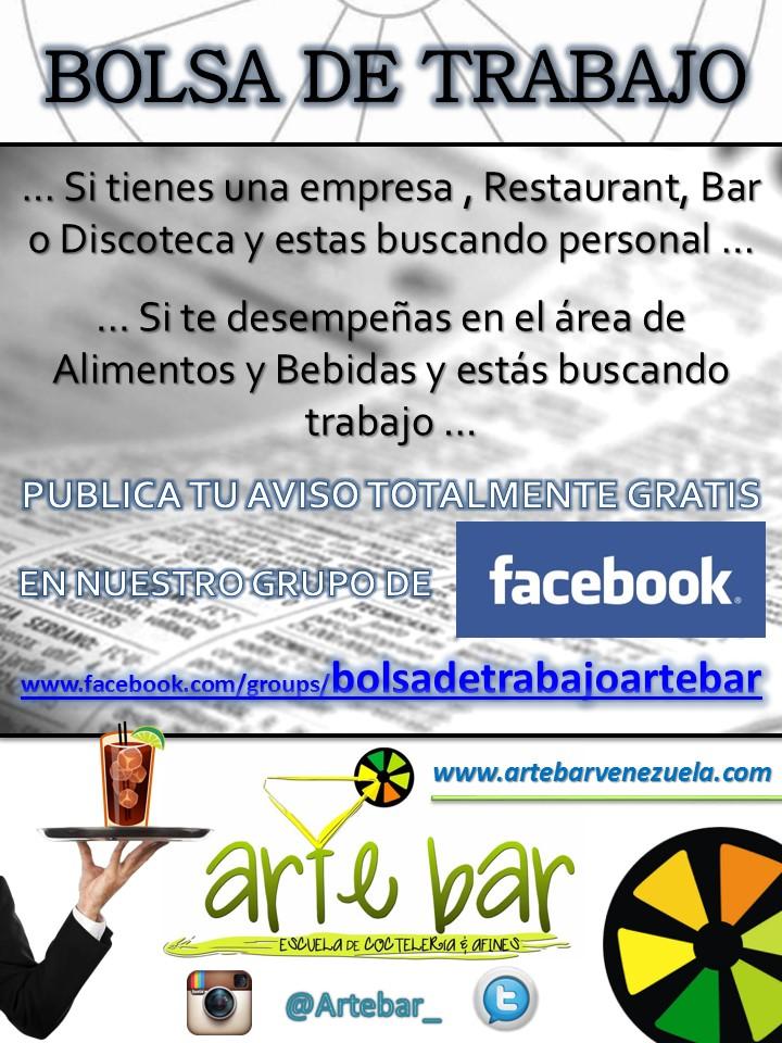 BOLSA DE TRABAJO Arte Bar